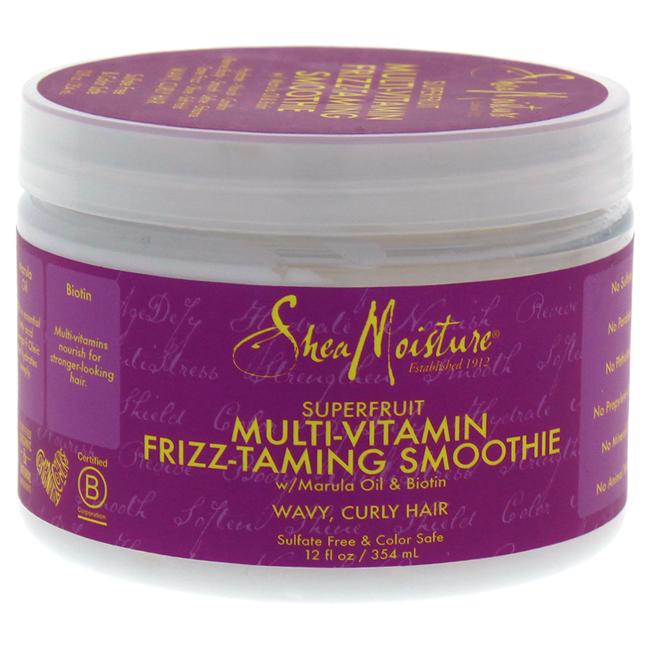 Shea Moisture U-HC-12189 Superfruit Multi-Vitamin Frizz-Taming Smoothie Cream for Unisex - 12 oz