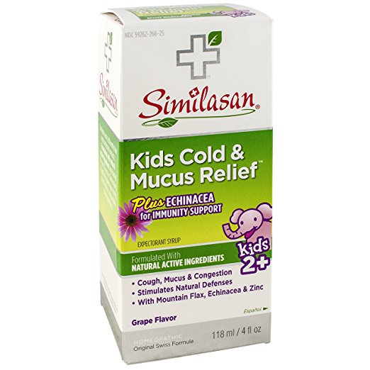 Similasan 459615 4 oz Kids Cold & Mucus Echinacea Syrup