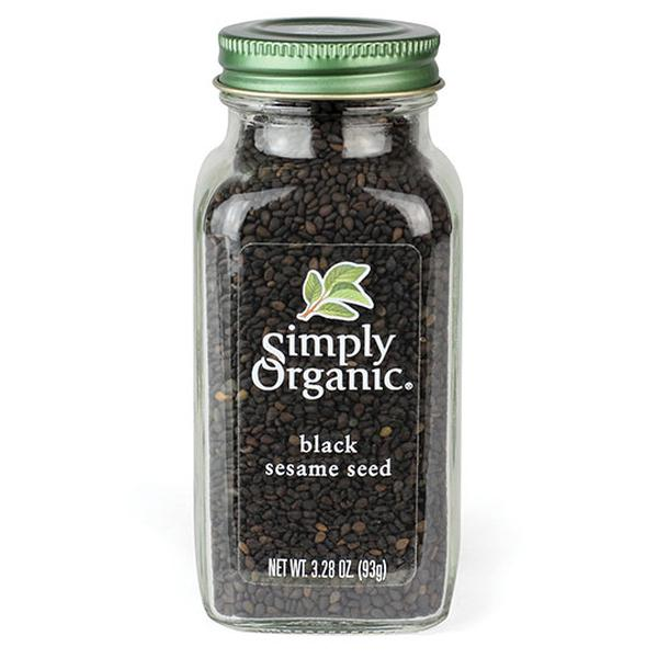 Simply Organic 19551 3.28 oz Organic Black Sesame Seed