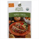Simply Organic Spicy Taco Seasoning Mix Certified Organic 1.13-Ounce Packets -Pack of 12