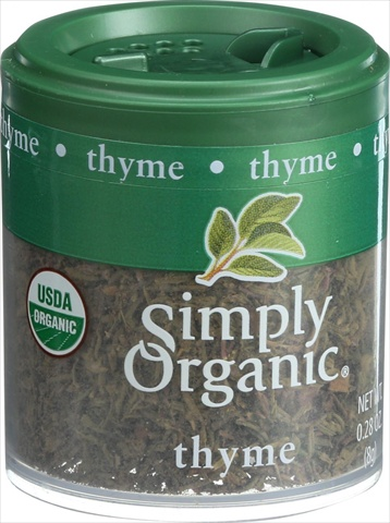 Simply Organic Thyme Leaf Organic Whole Fancy Grade - 0.28 Ounce