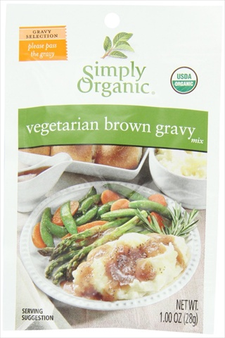 Simply Organic Vegetarian Brown Gravy Seasoning Mix Certified Organic 1-Ounce Packets -Pack of 12