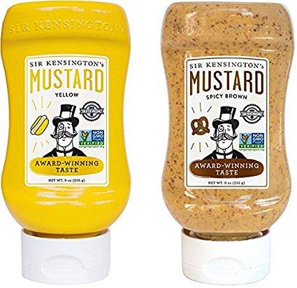 Sir Kensingtons 2019370 9 oz Squeeze Bottle Mustard - Case of 6