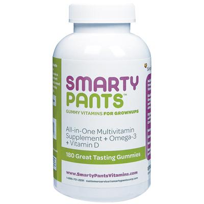 Smartypants 1137371 All-in-One Multivitamin plus Omega-3 plus Vitamin D 180 Gummies - 180 Pack