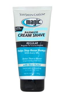 Soft Sheen Carson 6 oz Magic Razorless Shave Cream Regular