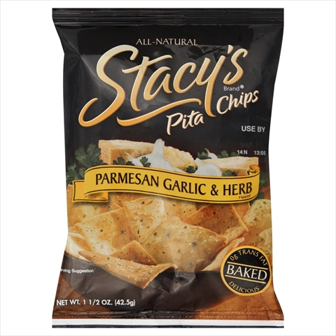 Stacys Pita Chips Parmesan Garlic Herb 1.5-Ounce Bags -Pack of 24