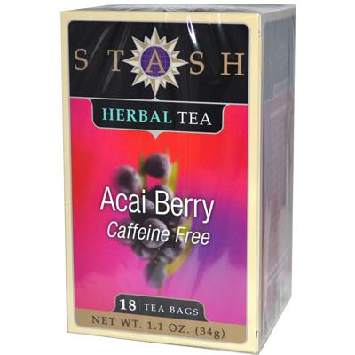 Stash Premium Caffeine Free Acai Berry Herbal Tea - 18 Tea Bags - -Pack of 6