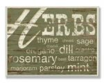 Stupell Industries KWP-837 Herbs and Words Green Rect Wall Plaque