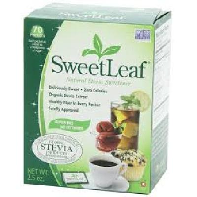 Sweet Leaf BG18766 Sweet Leaf Stevia 1G-Pack et - 1x70 CT