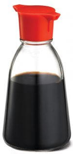 Tablecraft H888CD 5 Oz Red Top Soy Sauce Bottle Pack Of 9