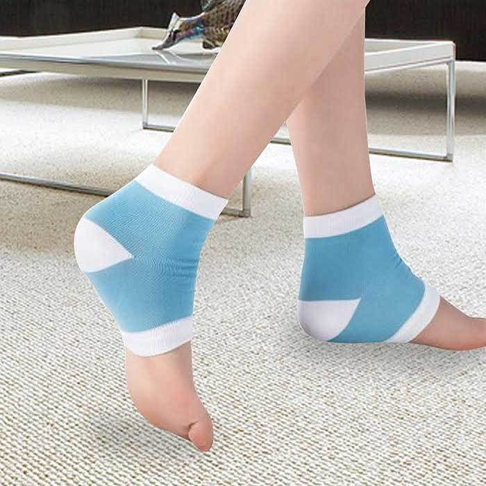 Tagco USA EF-SGHS-0163 Moisturizing Spa Gel Heel Socks Black