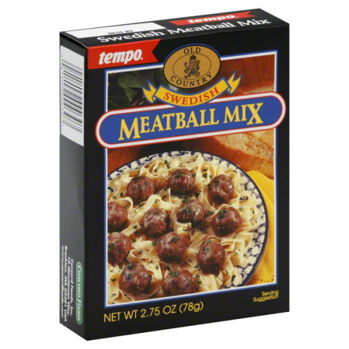 Tempo Mix Seasoning Meatball Swedish-2.75 Oz -Pack Of 12