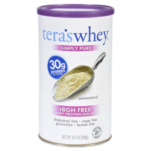 Teras Whey 1704246 10.2 oz Unsweetened Protein Isolate Whey Simply Pure