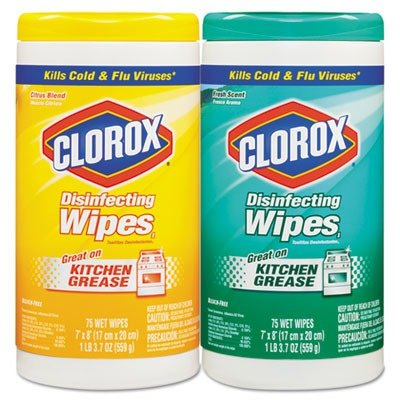Tilex 30208PK 7 x 8 in. Disinfecting Wipes Fresh Scent & Citrus Blend 75 per Canister Pack of 3