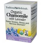 Traditional Medicinals 0669192 Organic Chamomile with Lavender Herbal Tea - 16 Tea Bags