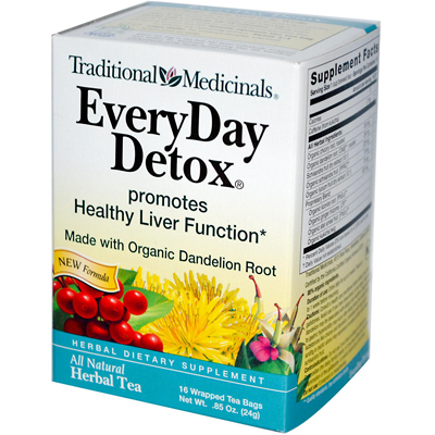 Traditional Medicinals 0669390 Everyday Detox Herbal Tea - 16 Tea Bags