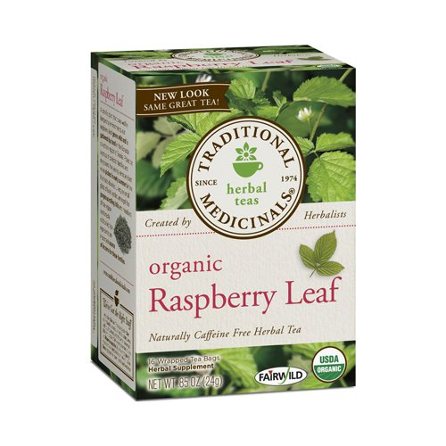 Traditional Medicinals 670331 Traditional Medicinals Organic Raspberry Leaf Herbal Tea - Caffeine Free - 16 Bags