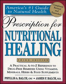 Tribest GPBJB01 Prescription For Nutritional Healing - Book By James Balch M.D. And Phyllis Balch CNC