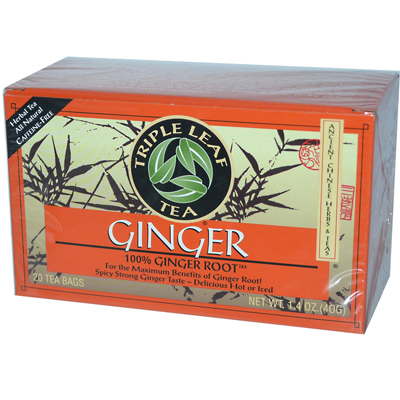 Triple Leaf Tea 0877654 Ginger - 20 Tea Bags