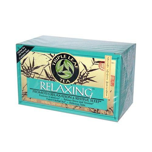 Triple Leaf Tea 877738 Triple Leaf Tea Relaxing Herb Tea - 20 Tea Bags - Case of 6