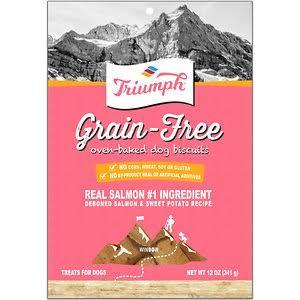 Triumph 486136 12 oz Grain Free Dog Biscuits - Salmon & Sweet Potato