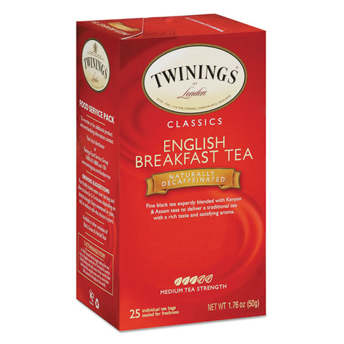 Twg 09182 1.76 oz. Tea Bags English Breakfast Decaf