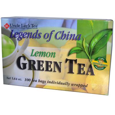 Uncle Lees Legend of China Green Tea Lemon - 100 Tea Bags