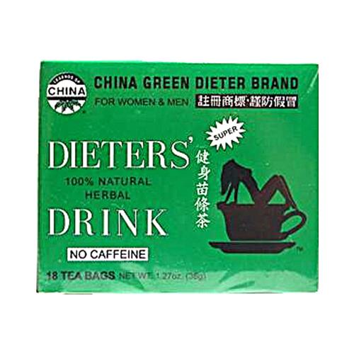 Uncle Lees Tea 0257089 China Green Dieters Tea Dieters Drink 18 Bags
