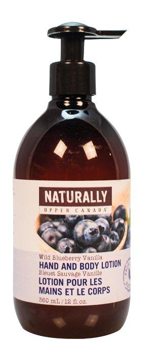 Upper Canada Soap 367045 Blueberry Vanilla Hand & Body Lotion