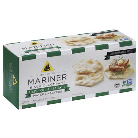 Venus Wafers 12406 Mariner Water Crackers Olive Oil & Sea Salt 4 oz - Case of 12