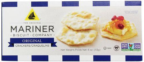 Venus Wafers 12408 Mariner Water Crackers Original 4 oz - Case of 12