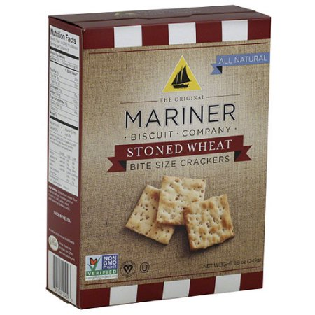 Venus Wafers 12409 Mariner Stoned Wheat Crackers Stoned Wheat Bite Size Crackers 8.8 oz - Case of 12