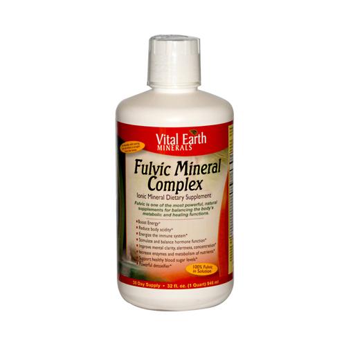 Vital Earth Minerals 0882415 Fulvic Mineral Complex 32 fl oz