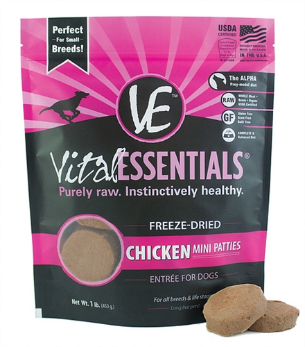 Vital Essentials 033211008978 Dog Freeze-Dried Chicken for Dogs