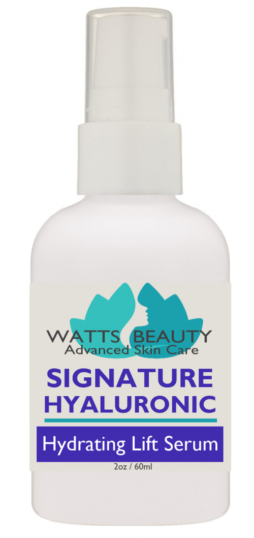 Watts Beauty 100% Signature Pure Hyaluronic Wrinkle Serum 2 oz
