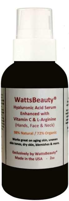 Watts Beauty Advanced Anti Wrinkle Vitamin C Serum for Skin 2 oz