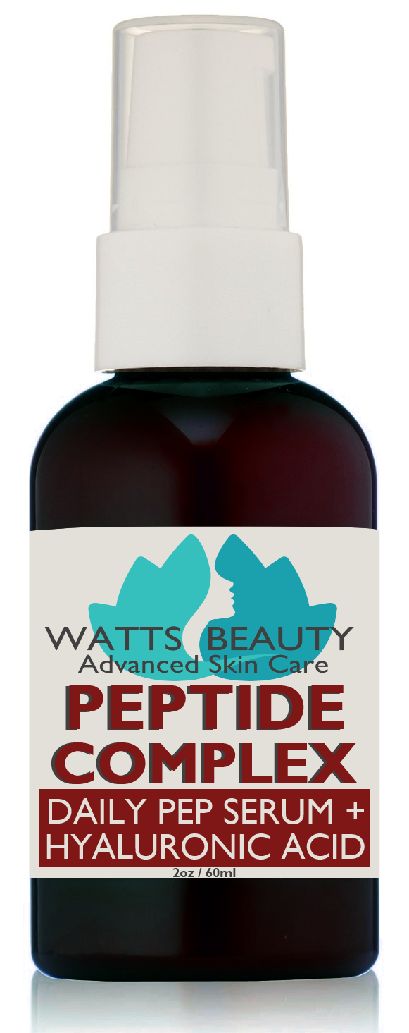 Watts Beauty Potent Peptide Wrinkle Serum Optimized with Hyaluronic Acid & L Arginine 2 oz
