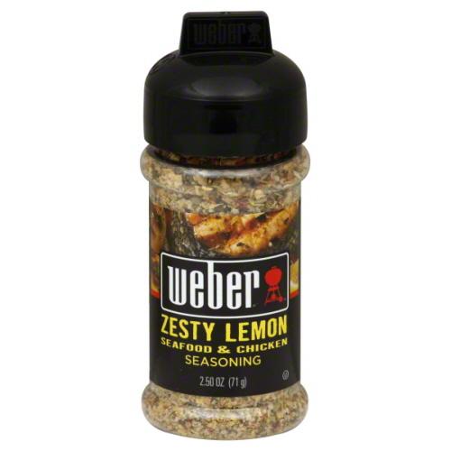 Weber Seasoning Zesty Lemon Grill-2.5 Oz -Pack Of 6