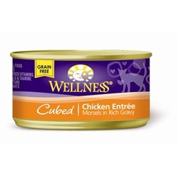 Wellness Sliced Canned Cuts Chicken Adult Canned Cat Food -Pack of 24
