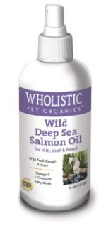 Wholistic Pet Organics CSCTWP28 4 oz Feline Wild Deep Sea Salmon Oil Spray for Dogs
