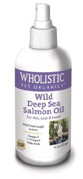 Wholistic Pet Organics CSCTWP28 4 oz Feline Wild Deep Sea Salmon Oil Spray for Dogs