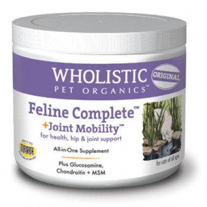 Wholistic Pet Organics SCTWP9 8 oz Feline Complete Joint Mobility for Health Hip & Joint Support