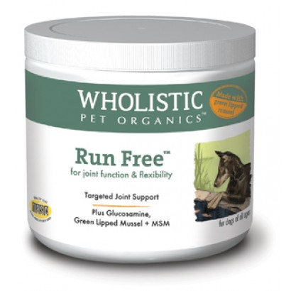 Wholistic Pet Organics STWP200G 4 oz Run Free with Green Lipped Mussel for Dogs