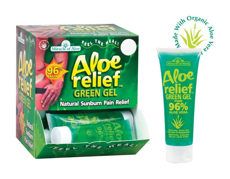 Winning Solutions 1751 4 oz Aloe Relief Green Gel