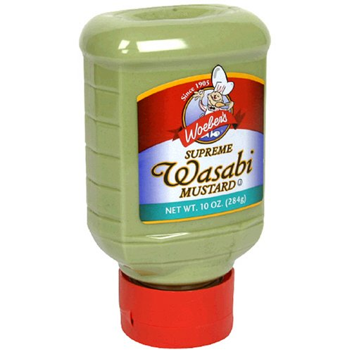 WoeberS Supreme Wasabi Mustard 10-Ounce Squeeze Bottles (Pack Of 6)