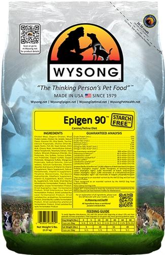 Wysong WY98502 Epigen 90 5 lbs Pet Food Bag