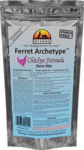 Wysong WY99050 Ferret Archetype Chicken 7.5 oz Pet Food Bag