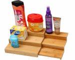 YBM Home 335 Bamboo Spice Rack Step Shelf Organizer