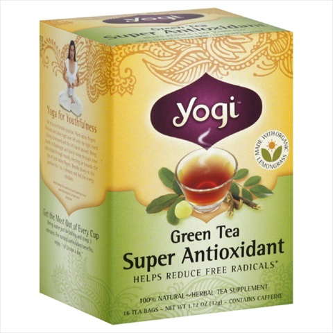 YOGI TEAS TEA GRN ANTIOXDNT ORG-16 BG -Pack of 6