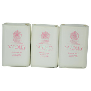 Yardley 278561 3.5 oz English Rose Luxury Soaps - 3 Piece
